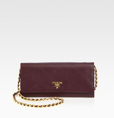 cc156680012fd0 Prada Saffiano Metal Wallet On Chain Sling | Stanford Center for ...