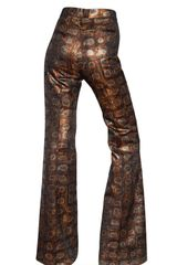 Rochas 3d Rayon Brocade High Waisted Trousers