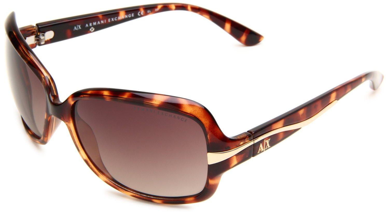 ba2d29882b4 Armani Exchange Rectangle Aviator Sunglasses