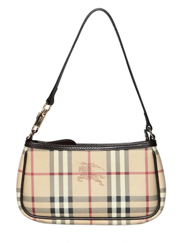 Keeping Burberry Small Bags   Burberry small aston haymarket pvc shoulder  bag in beige c8a0256148e53