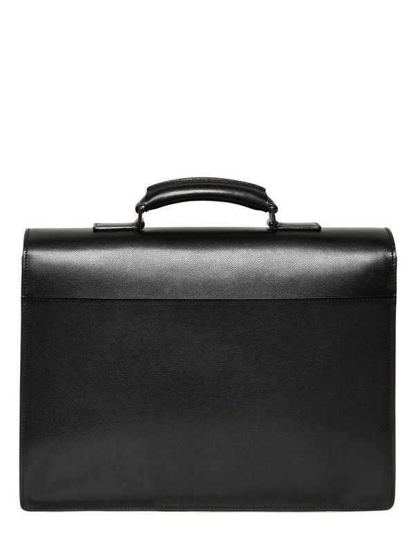 Lyst Dior Homme Leather Briefcase In Black For Men