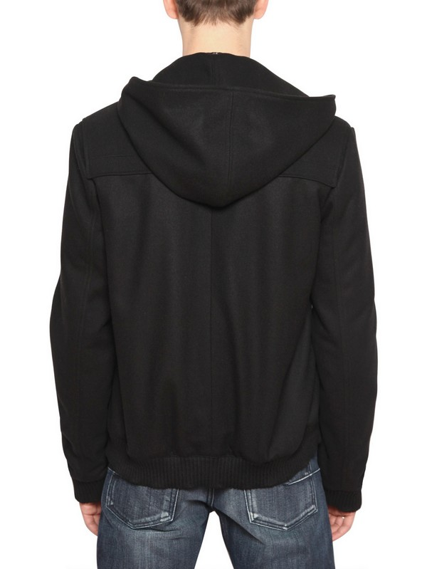 dior homme wool cloth duffle coat in black for men lyst. Black Bedroom Furniture Sets. Home Design Ideas