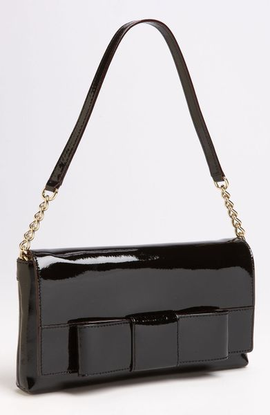 Kate spade ruby bow monette shoulder bag in black lyst