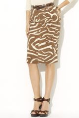 Lauren by Ralph Lauren Carrie Zebra Pencil Skirt