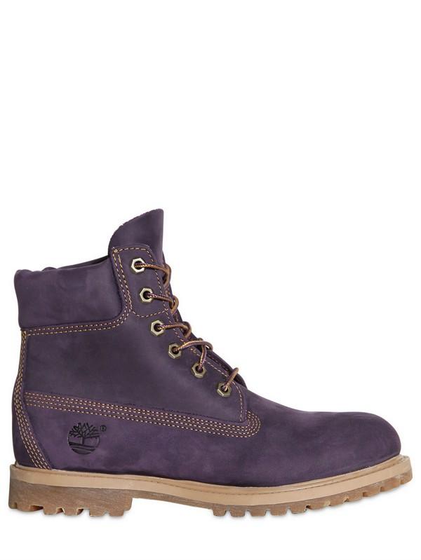 womens timberland 6 inch premium purple boots
