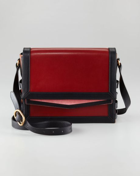 Christian Louboutin Farida Messenger Bag in Brown (red)