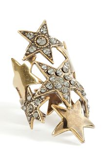 Emilio Pucci Gold Crystal Star Ring - Lyst