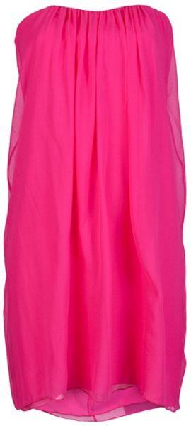 Alice + Olivia Jocelyn Dress in Pink (fuschia) - Lyst