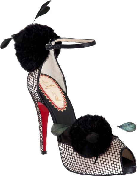 Christian Louboutin Pluminette in Black (powder) - Lyst
