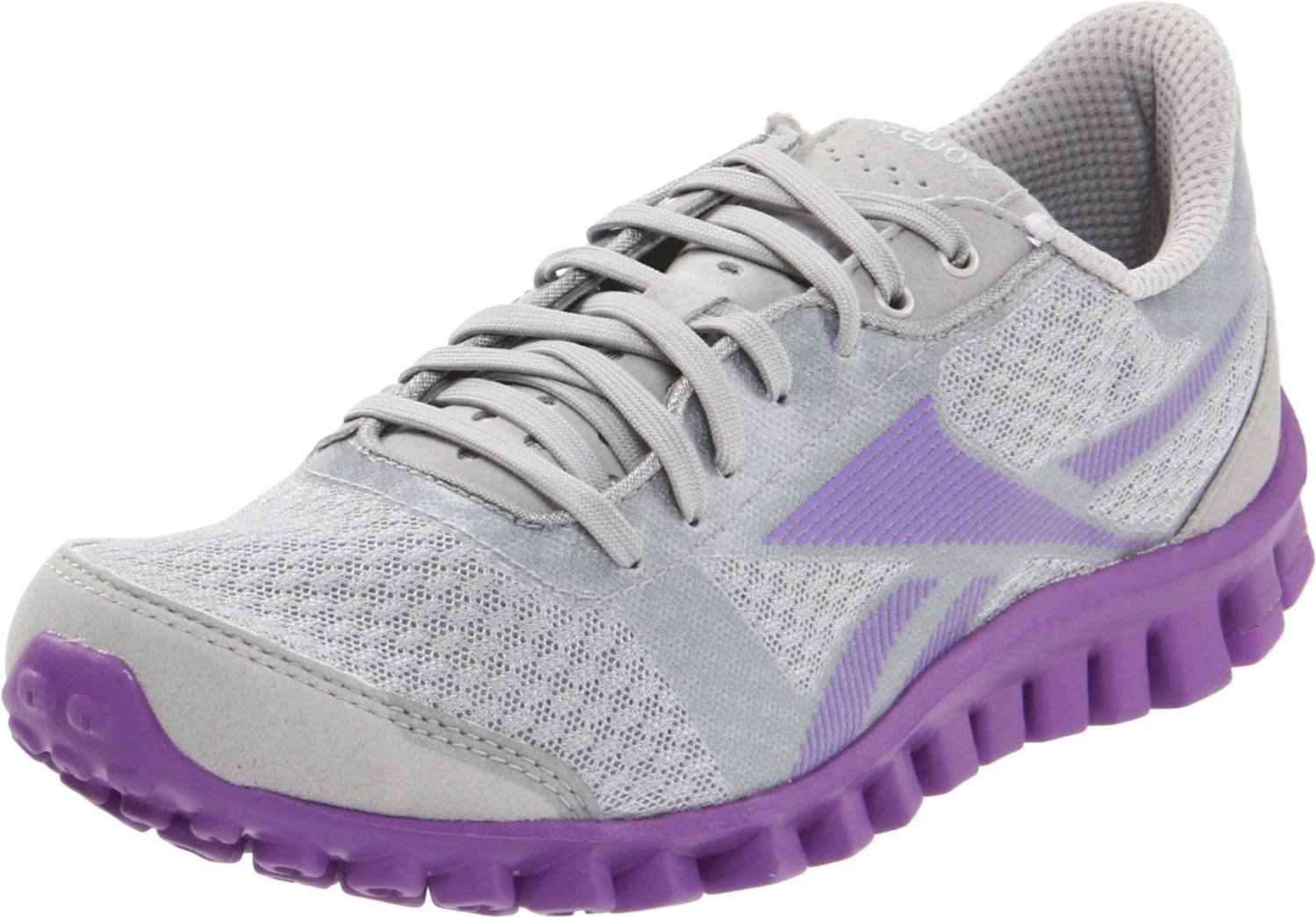 reebok reebok womens realflex optimal running shoe in gray