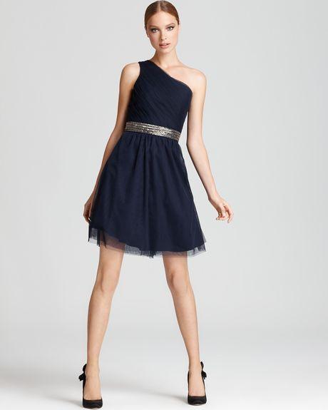 Cleo S Clothing: Max & Cleo One Shoulder Dress Brianna In Black (dark Night