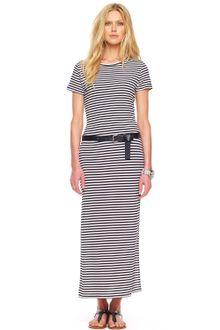 Black  White Striped Maxi Dress on Michael Kors Striped Maxi Dress In Black  White    Lyst