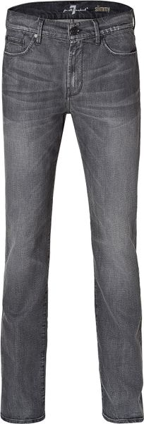 7 For All Mankind Lunar Skies Slimmy Minimal Pants in Gray for Men