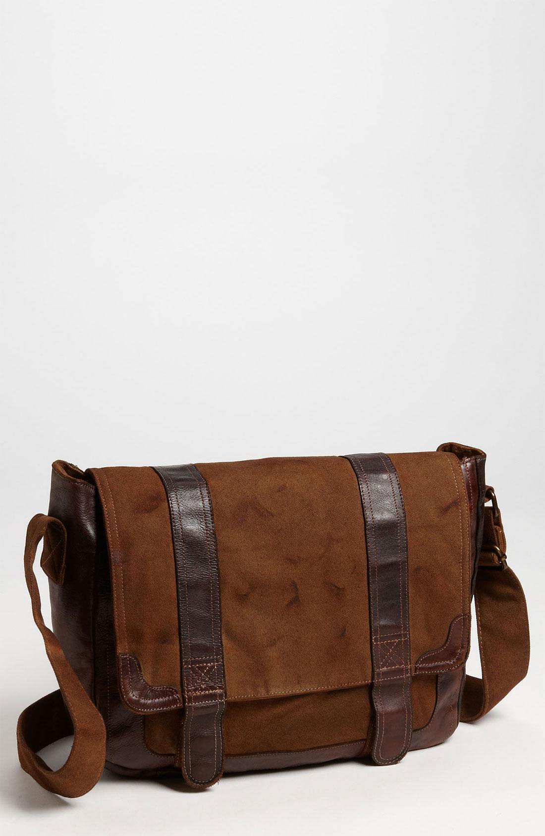 bed stu belos messenger bag in brown for men lyst. Black Bedroom Furniture Sets. Home Design Ideas