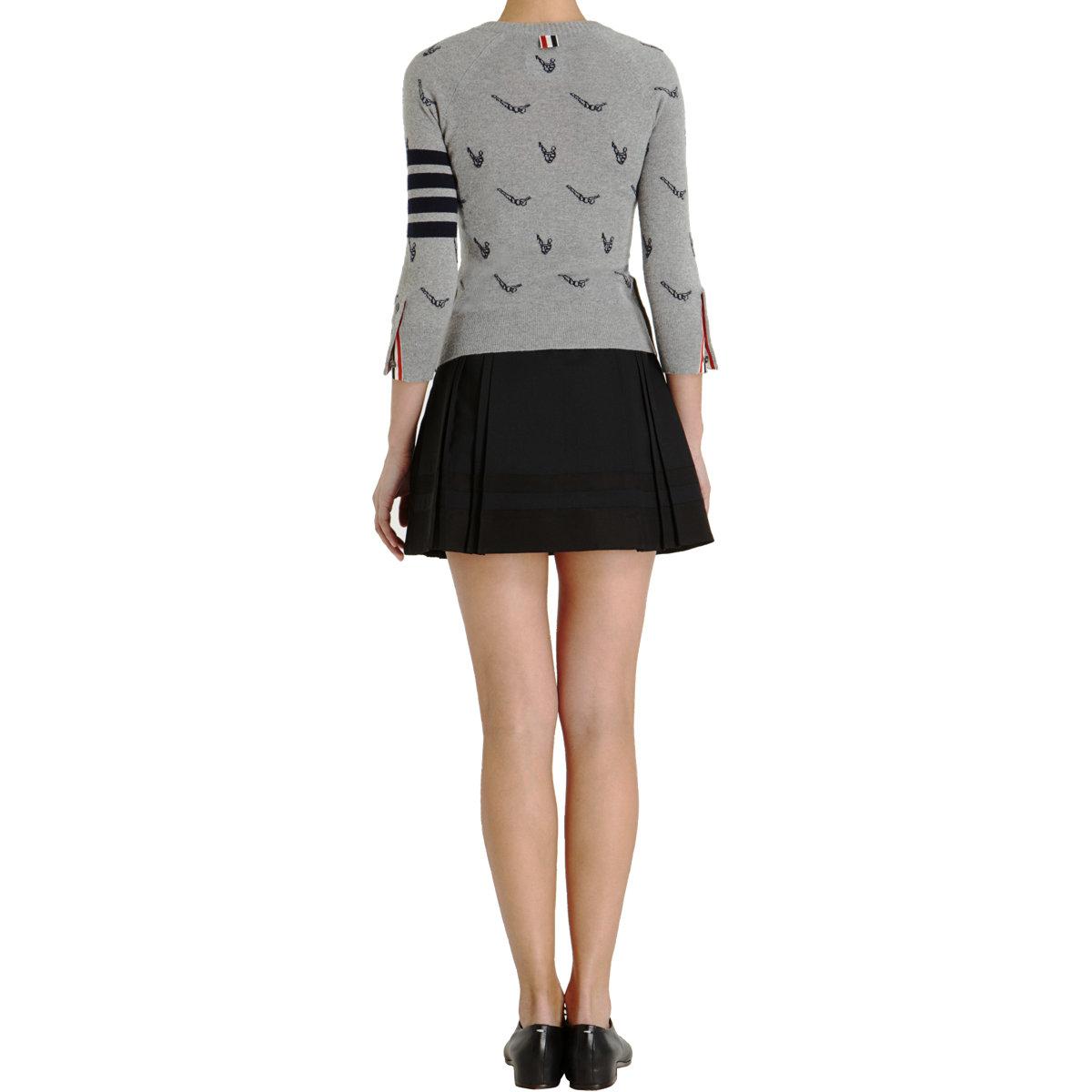 Thom Browne School Uniform Skirt in Black - Lyst