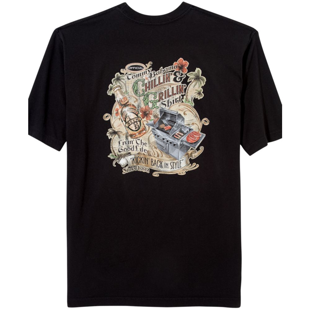 Tommy Bahama Grillin And Chillin Graphic T Shirt In Black