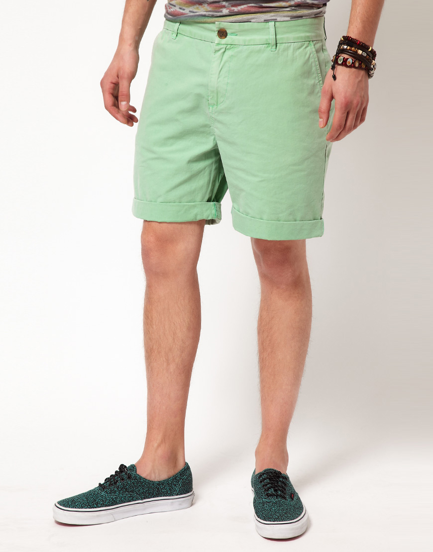 Asos Chino Shorts in Green for Men | Lyst
