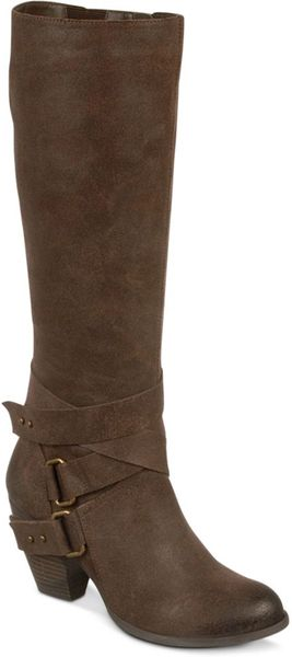 Fergie Legend Too Tall Boots In Brown Lyst