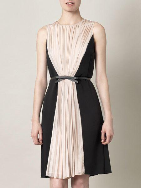 max mara studio alba dress in pink black lyst. Black Bedroom Furniture Sets. Home Design Ideas
