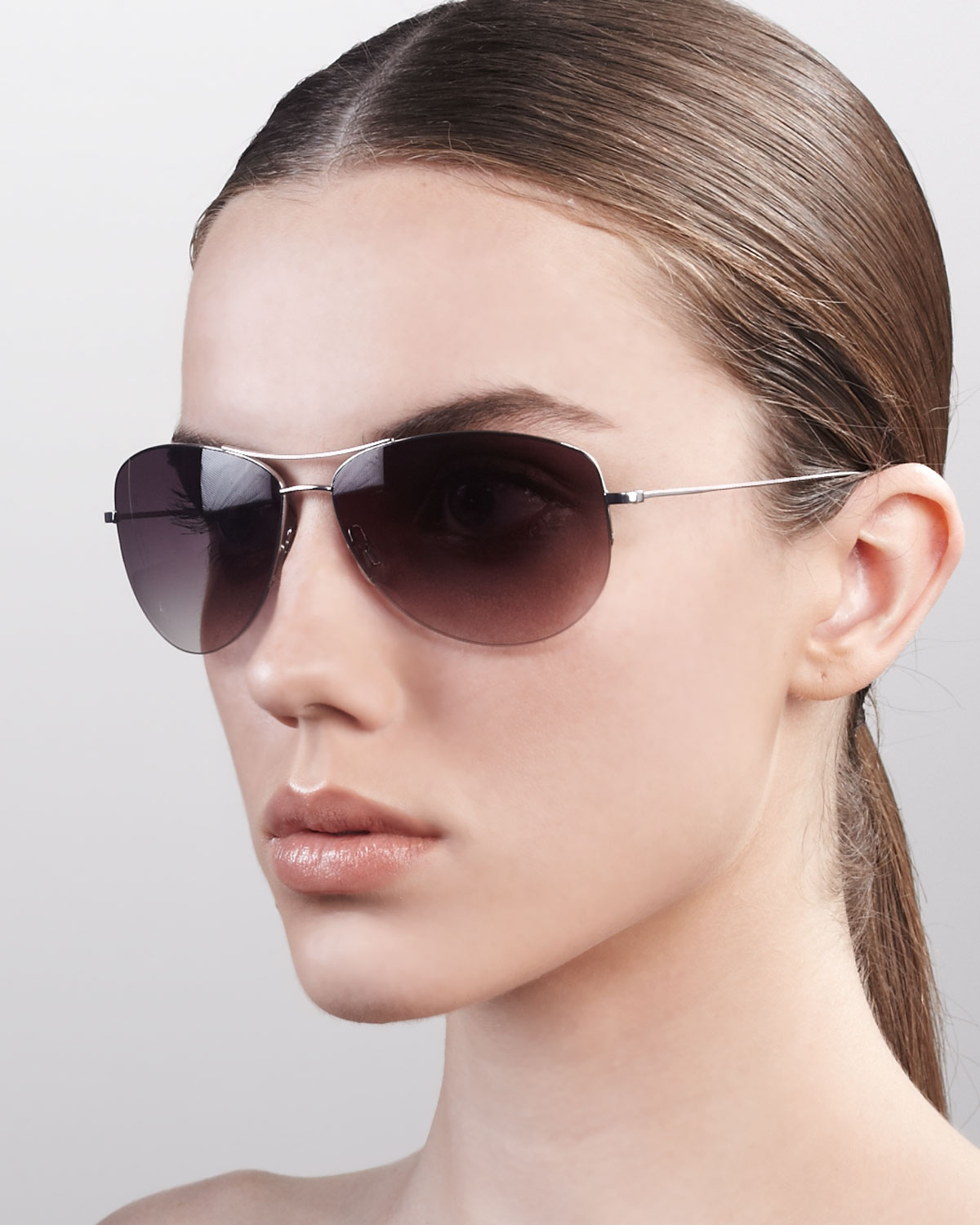 bf50ac481cc Lyst - Oliver Peoples Strummer Classic Aviator Sunglasses in Black