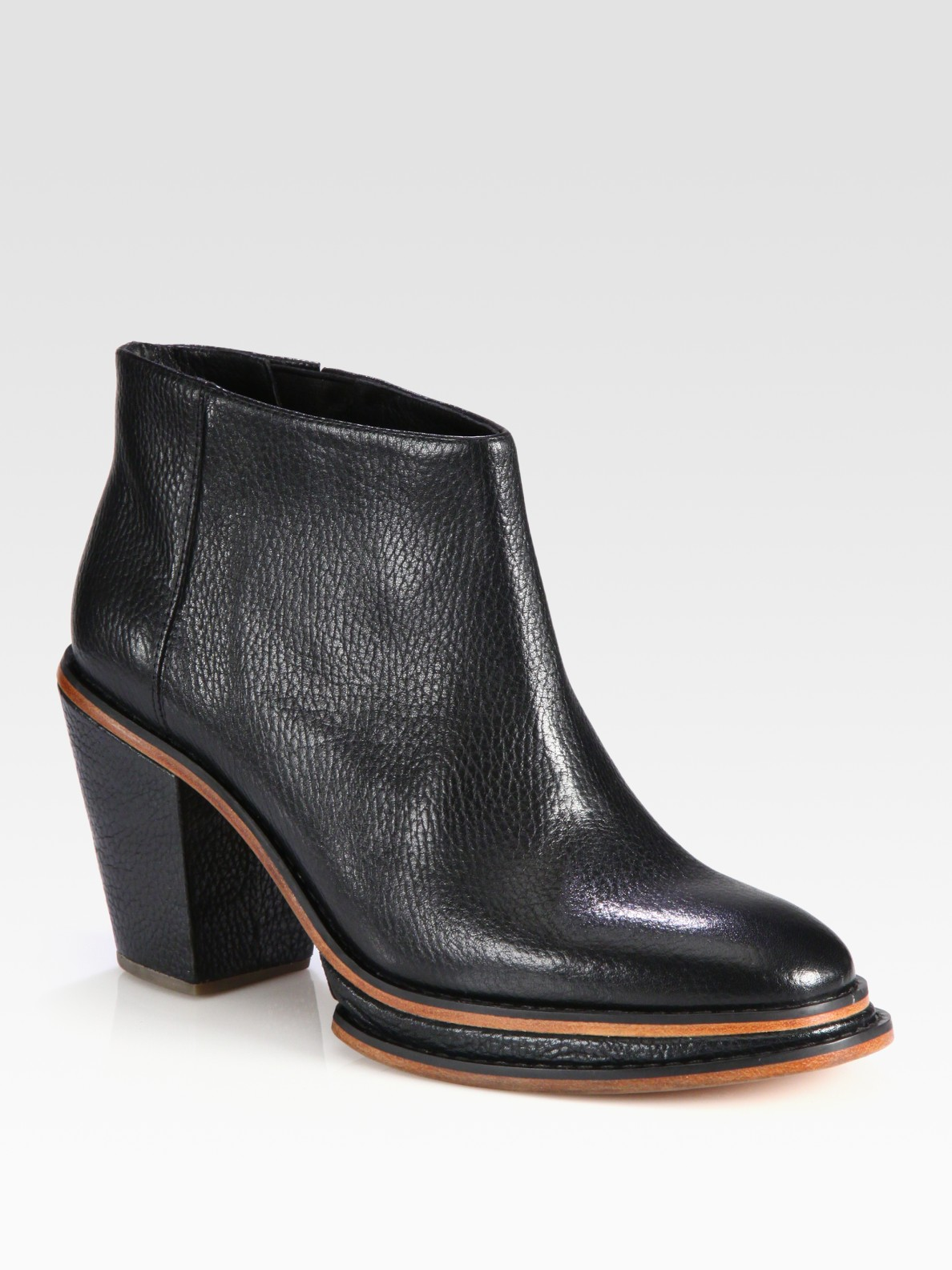 81296a5cca40 Lyst - Rachel Comey Twotone Leather Ankle Boots in Black