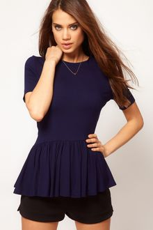 ASOS Collection Asos Top with Peplum - Lyst