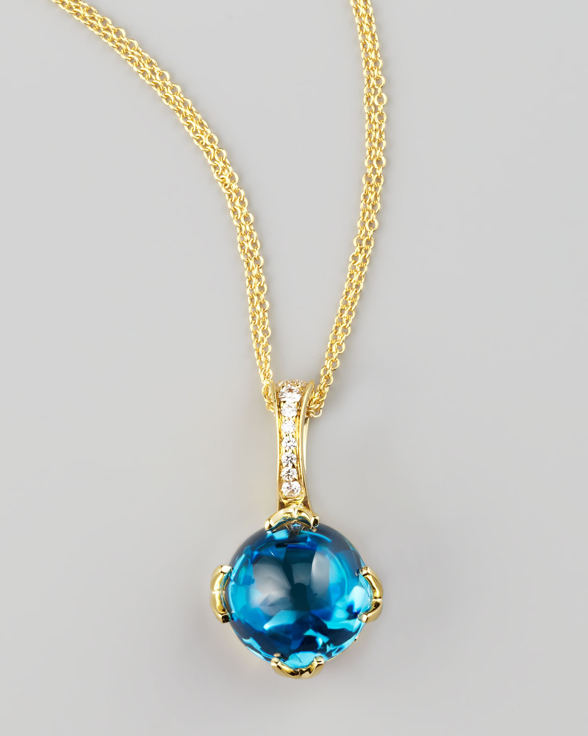 Lyst frederic sage jelly bean topaz pendant necklace in blue gallery aloadofball Gallery