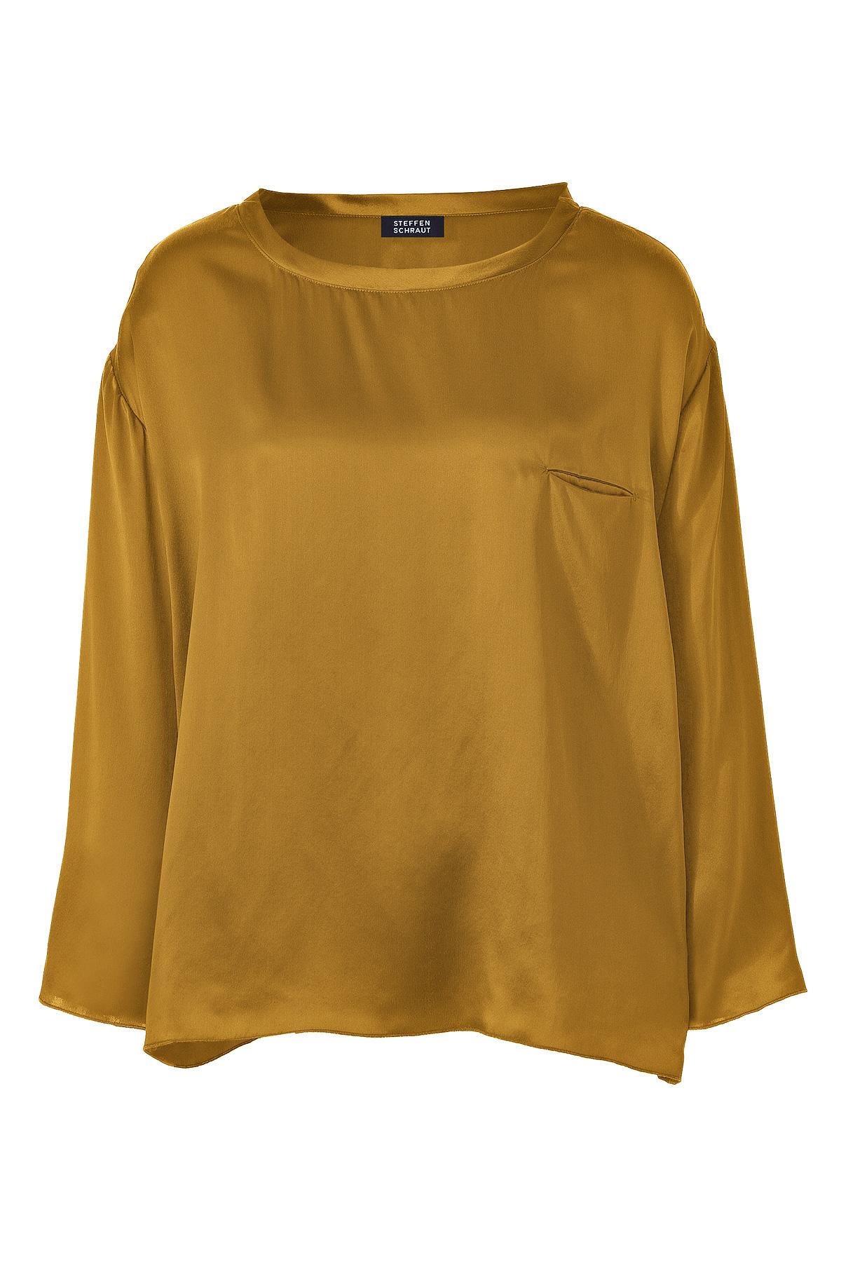 fa56a74b3c3fb7 Lyst - Steffen Schraut Winter Gold Silk Top in Metallic