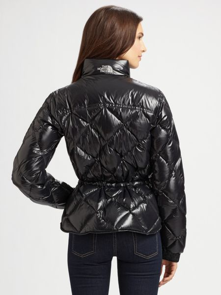 The North Face Quilted Puffer Jacket In Black Lyst