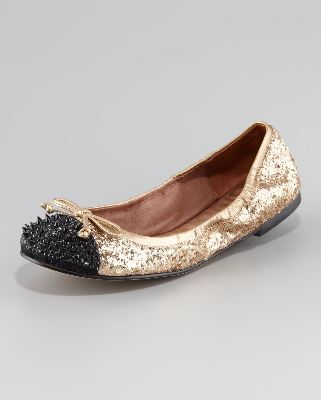 5d18f8d7e027 Lyst - Sam Edelman Beatrix Studded Ballerina Flat in Black