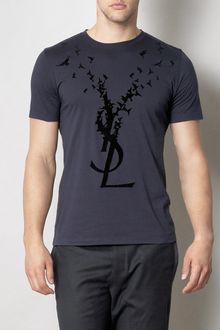 Yves Saint Laurent Flocked Dove Tshirt - Lyst