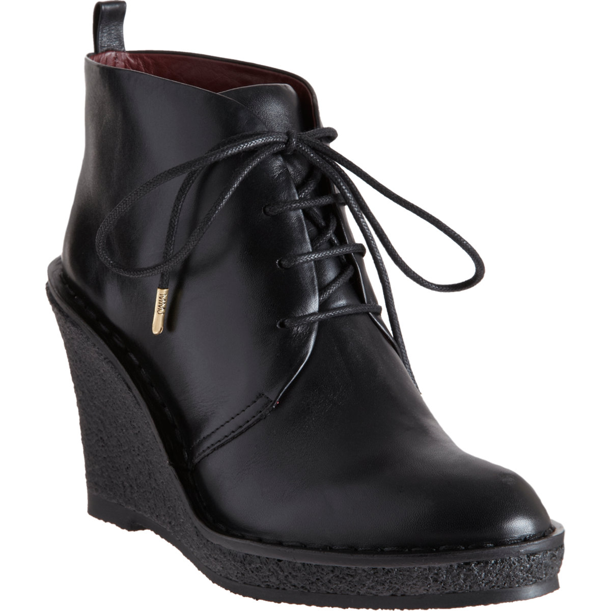 marc by marc wedge chukka boot in black lyst