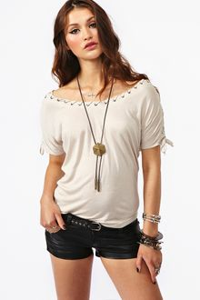 Nasty Gal Laced Up Top - Lyst