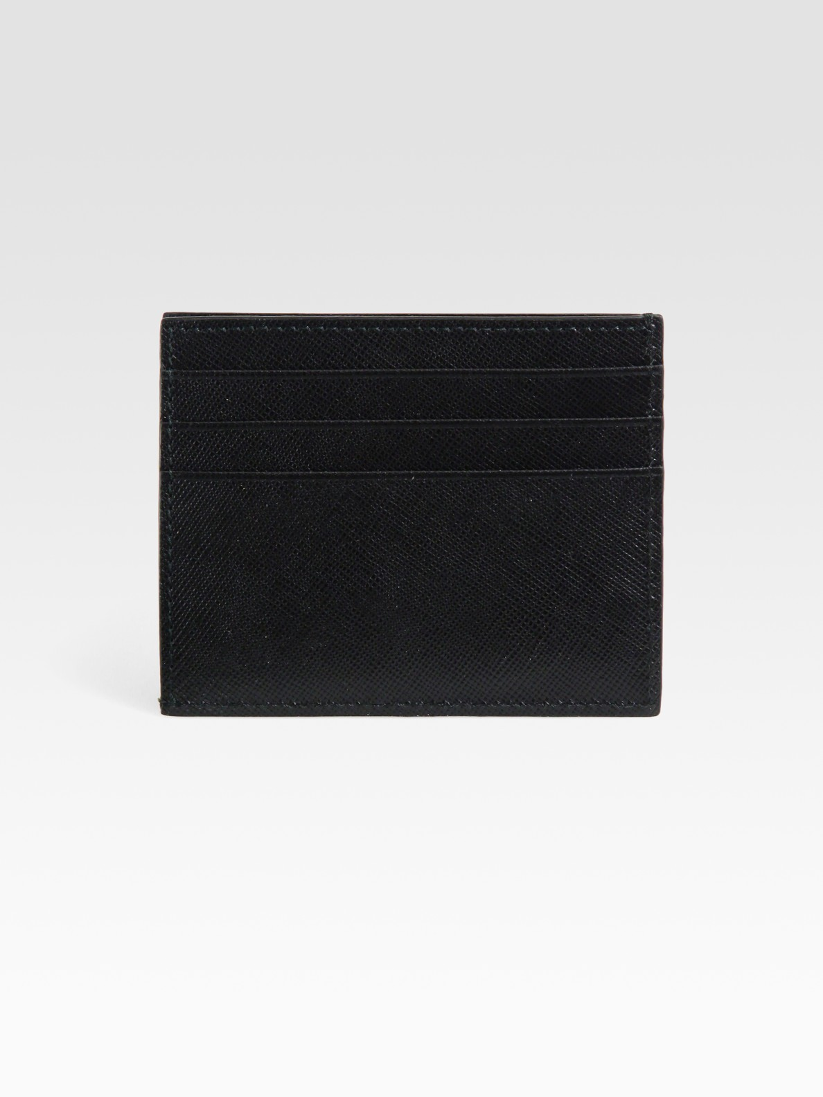 prada handbag replicas - Prada Saffiano Leather Credit Card Case in Black for Men | Lyst