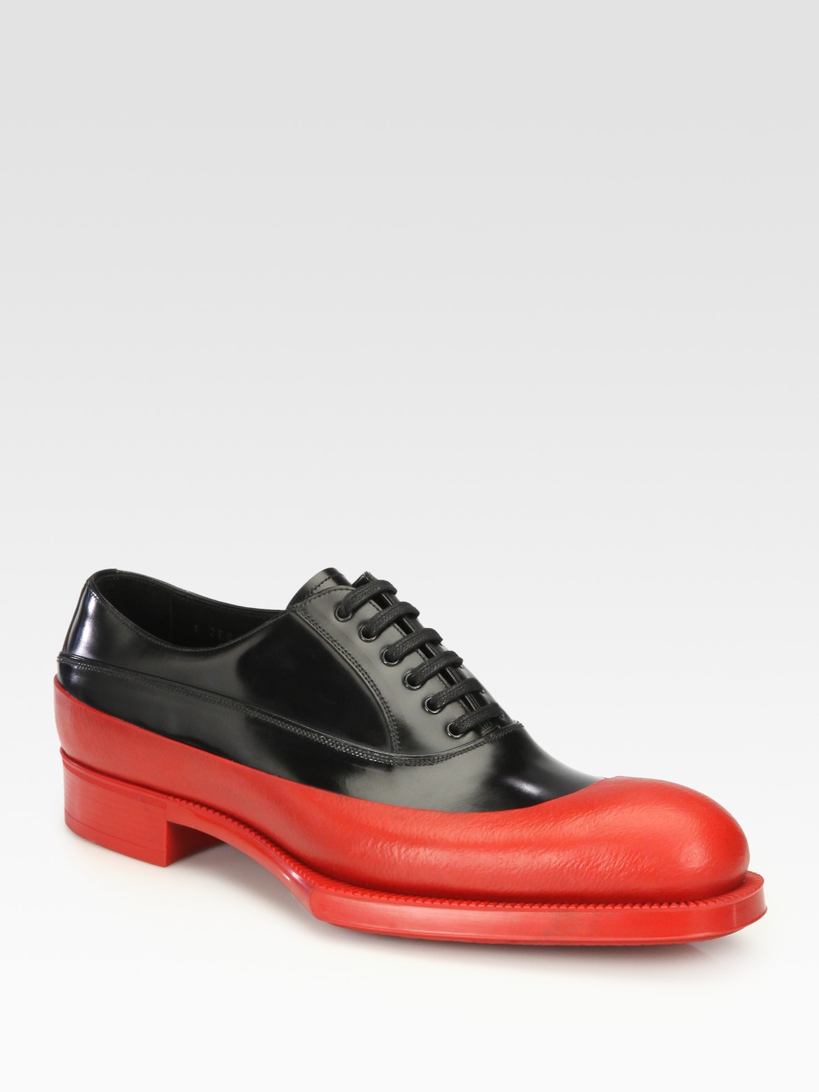 various colors 70979 fca73 prada-nero-rubber-dipped-laceup-product-1-3928317-515108324.jpeg
