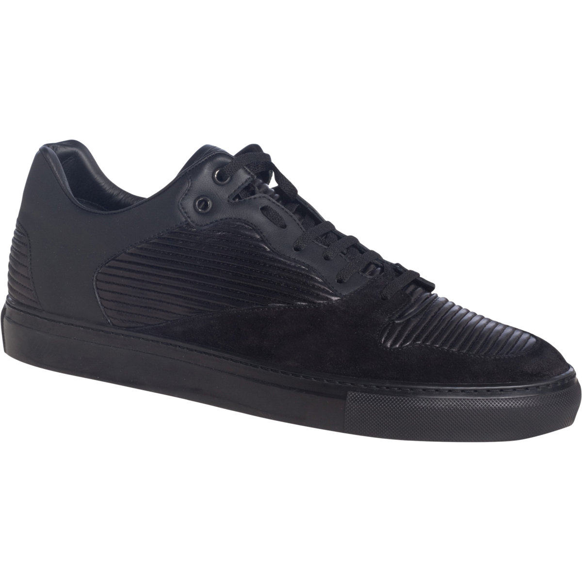 balenciaga pleated low top in black for men lyst. Black Bedroom Furniture Sets. Home Design Ideas
