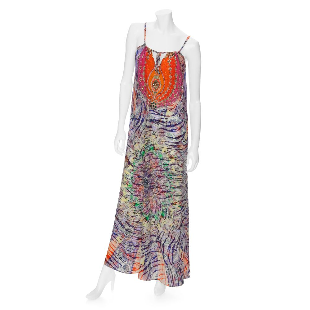 Camilla preview exclusive waterfall maxi dress in for Waterfall design dress