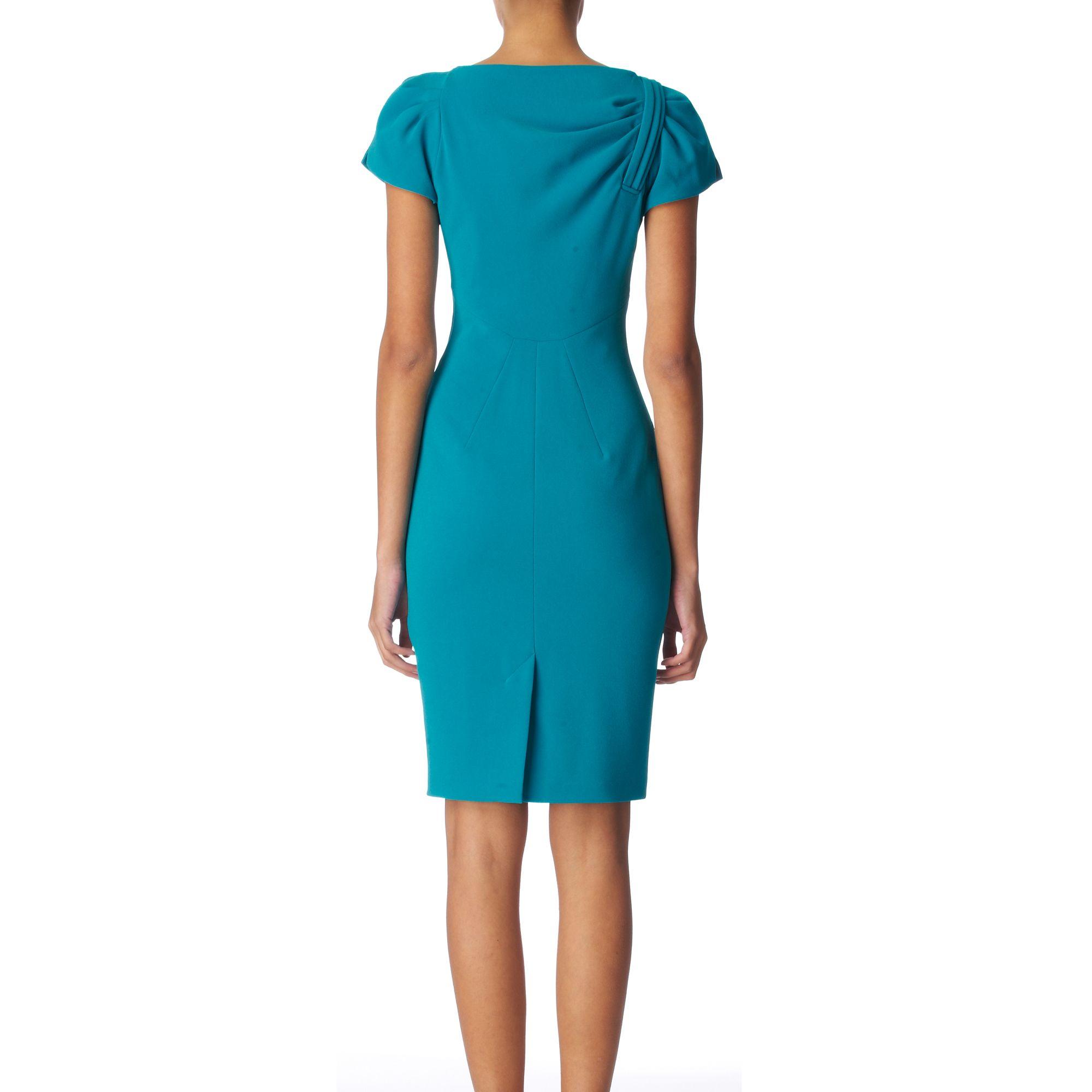 Karen Millen Crepe Dress in Blue - Lyst