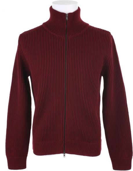 Maison Martin Margiela Cardigan in Wool in Red for Men (camel) - Lyst