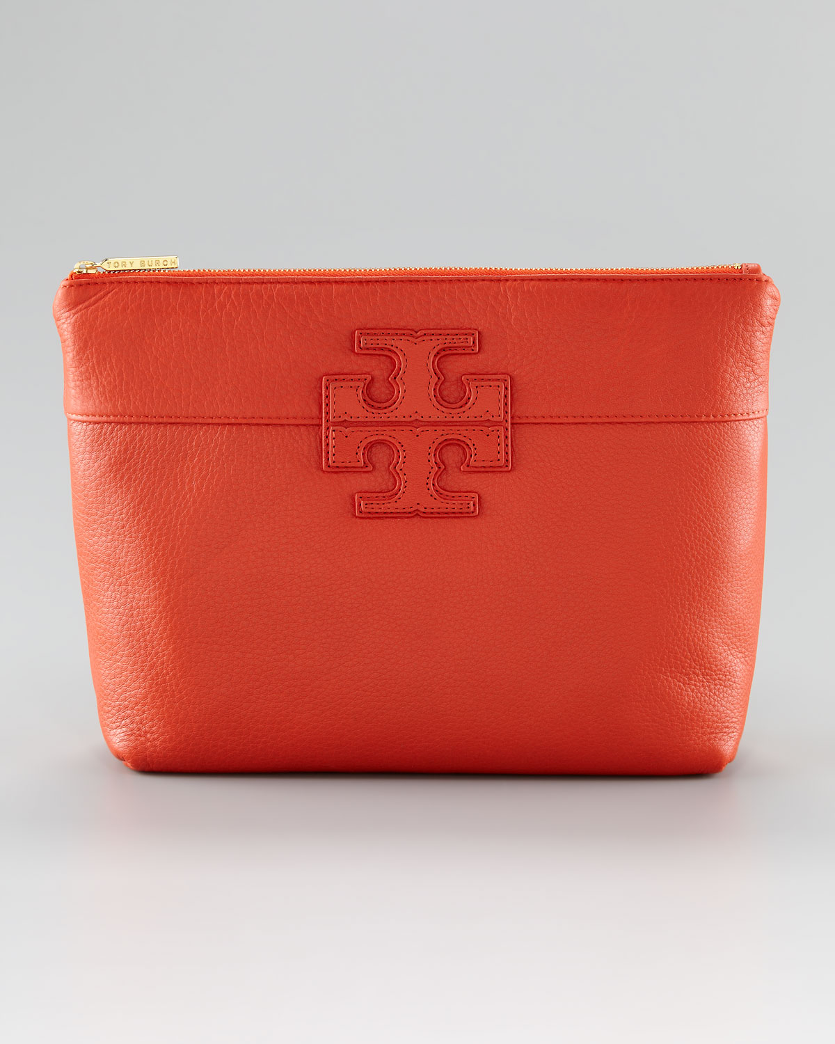Tory Burch Stacked Logo Cosmetic Case Red Black Lyst