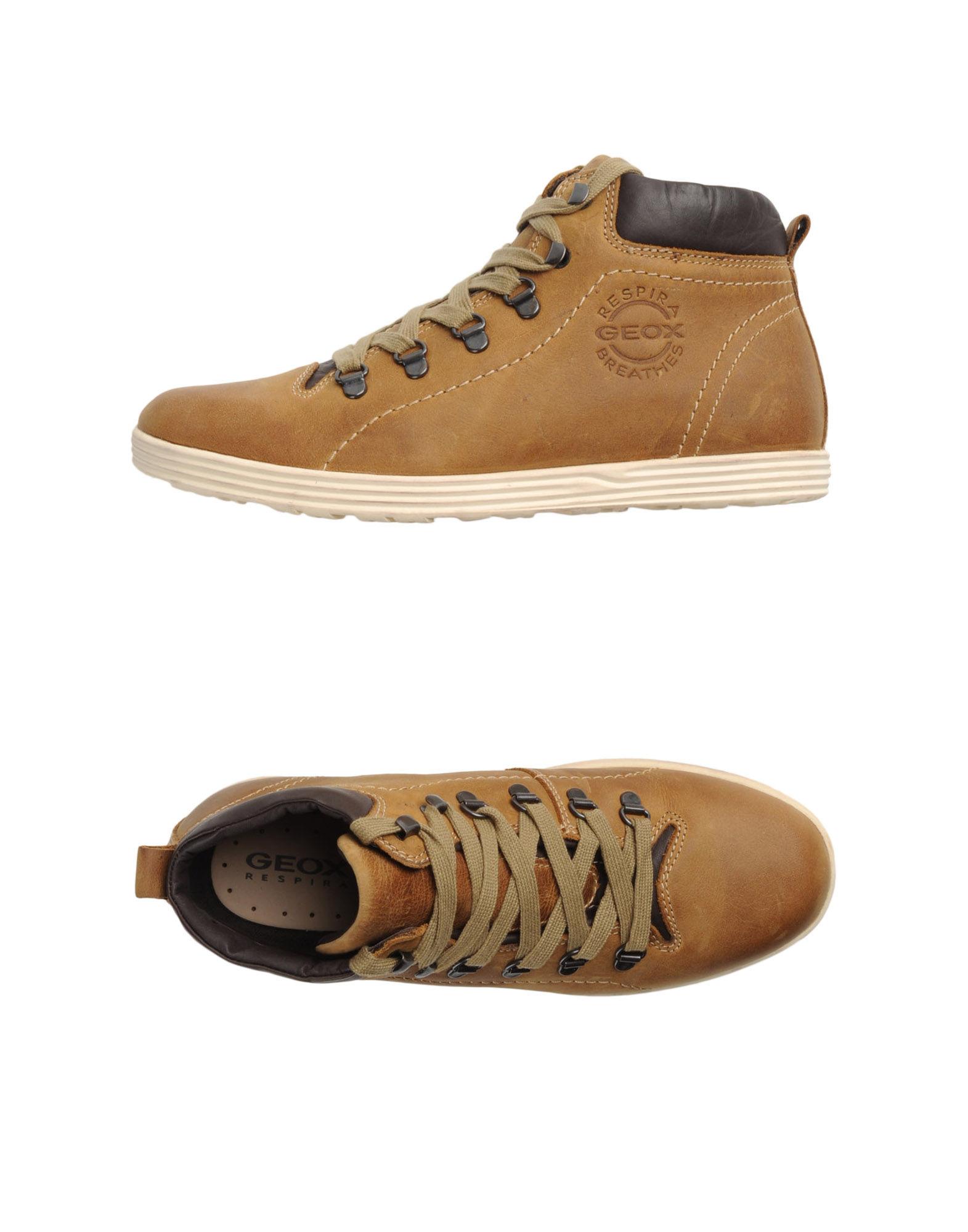 geox hightop dress shoe in beige for camel lyst