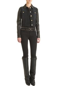 Givenchy Leather Sleeve Jacket - Lyst