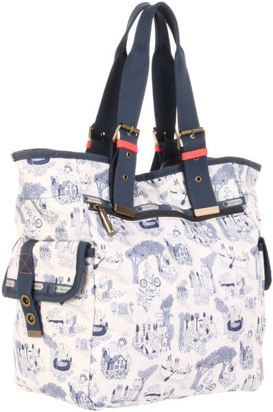 Lesportsac Triple Trouble Tote in Multicolor (happy campers)
