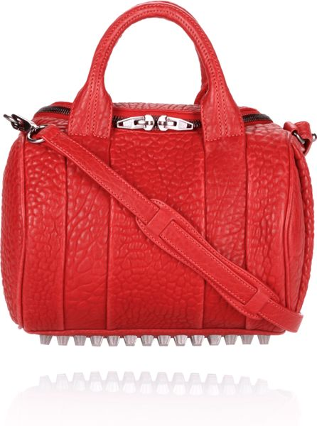 Alexander Wang Rockie in Cayenne Pebble Lamb with Black Nickel in Red (cayenne)