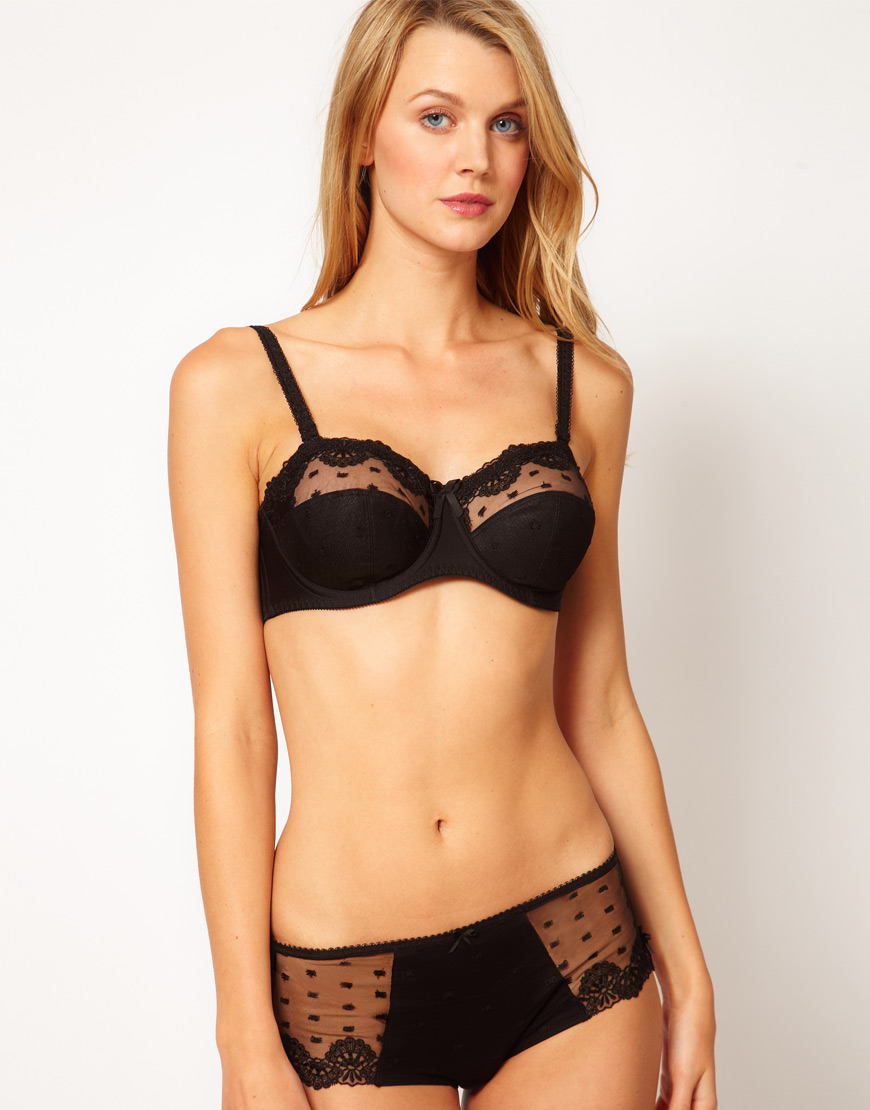e2f4c86c064 Fantasie Samantha Strapless Bra in Black - Lyst