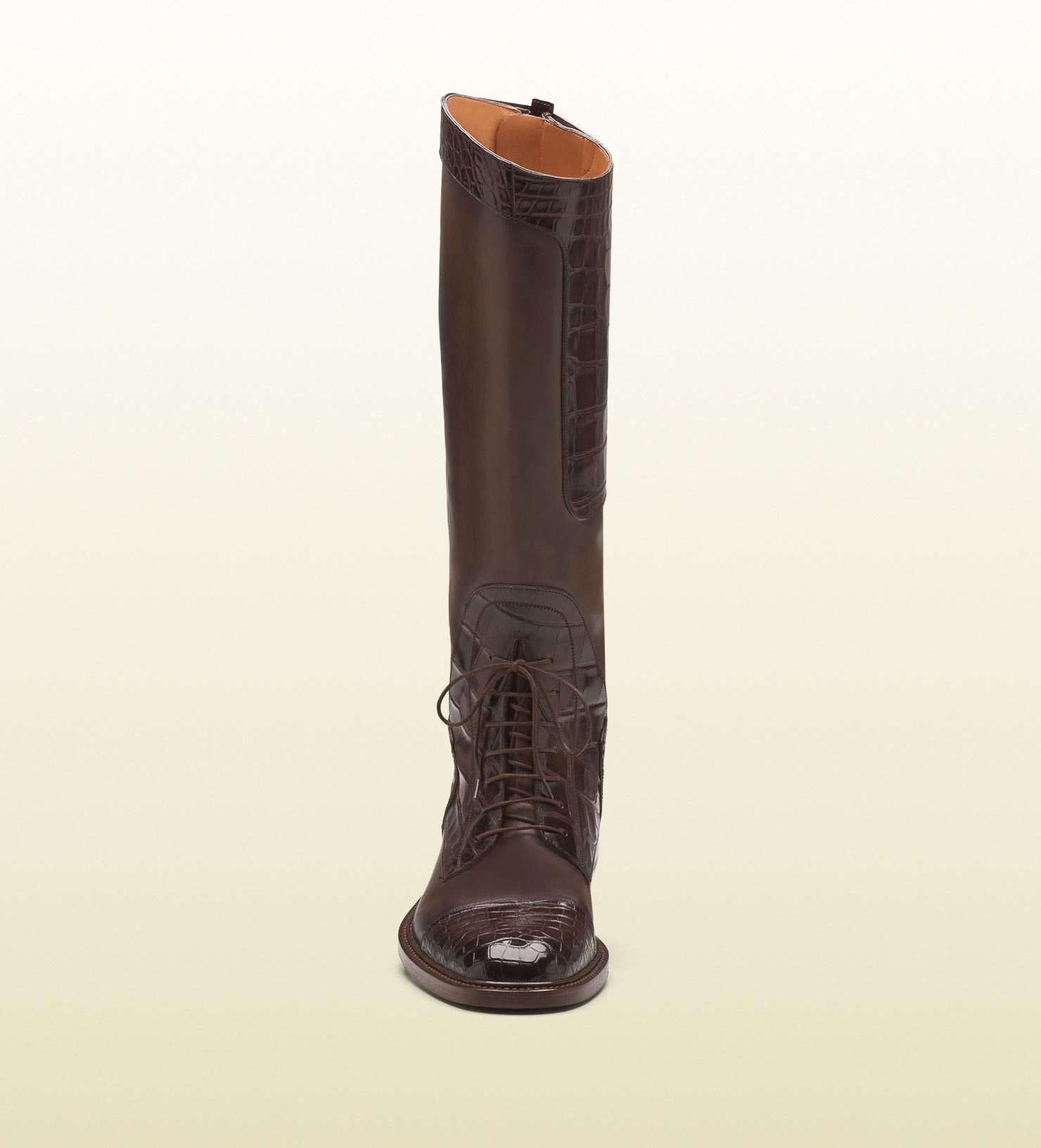 e7b49881560 Lyst - Gucci Redoute Crocodile Tall Boot in Brown for Men