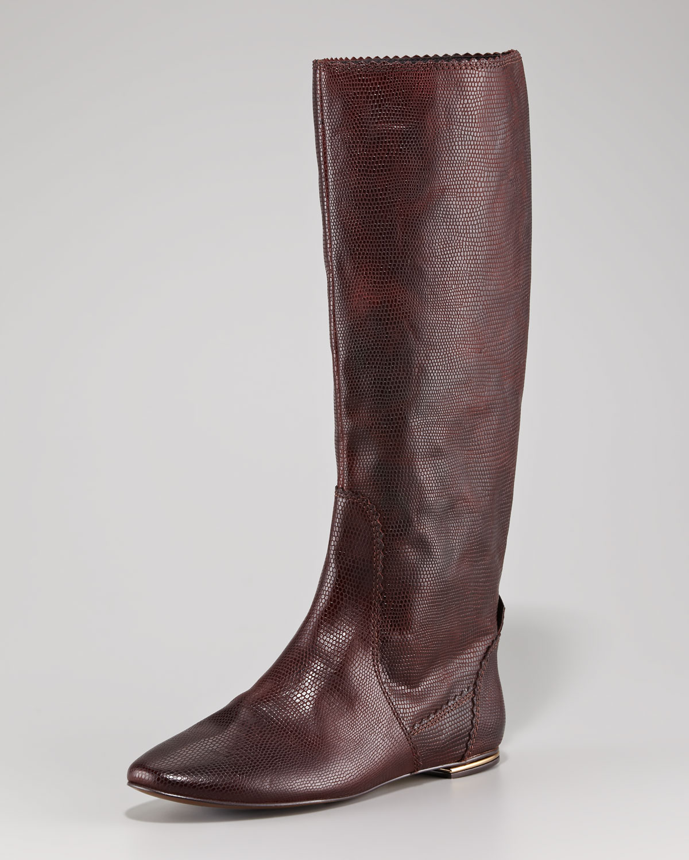 Lyst - Juicy Couture Boxer Lizardprint Knee Boot in Brown