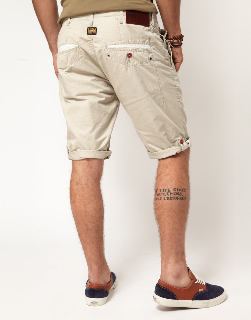 g star raw correct line new bronson chino shorts in. Black Bedroom Furniture Sets. Home Design Ideas