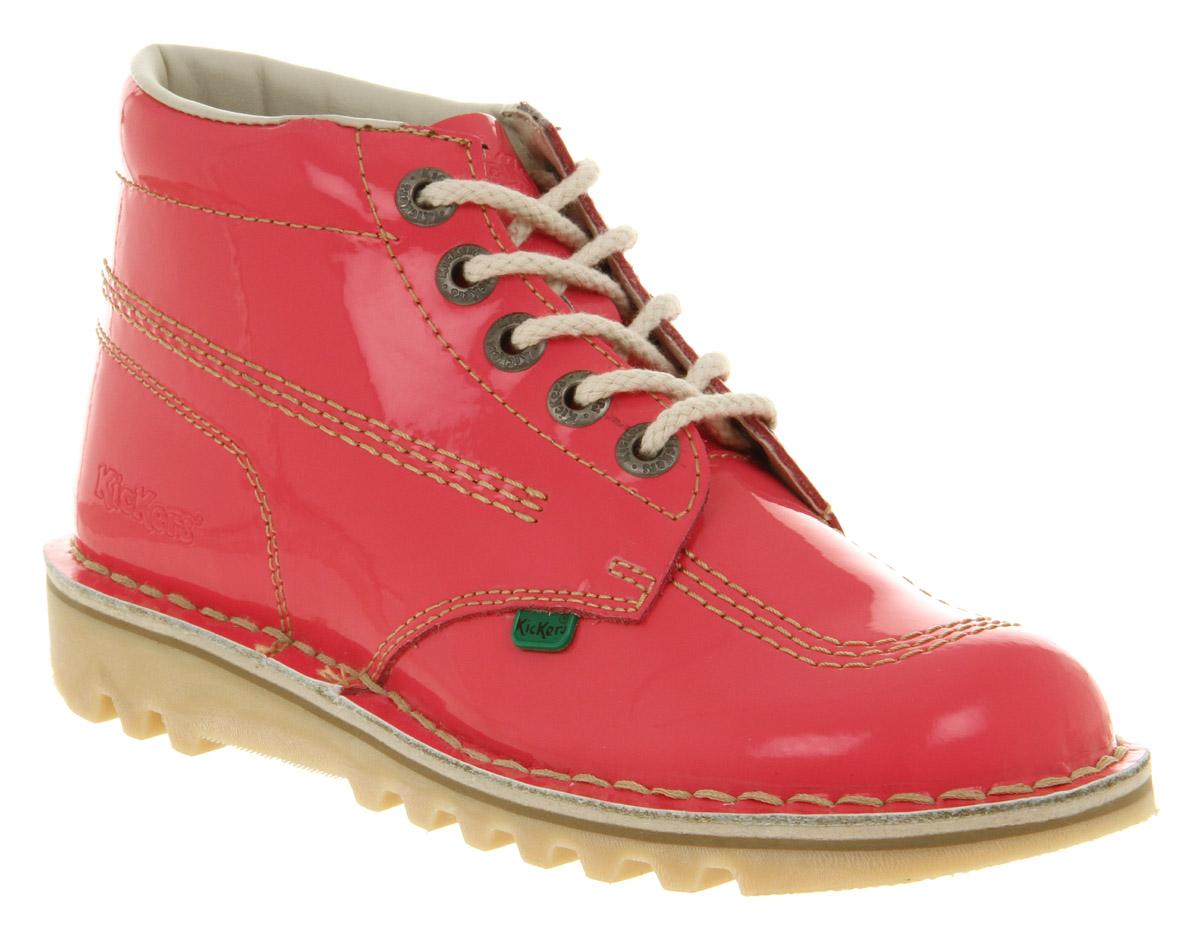 Creative Home Womens Kickers Kick Hi Pale Pink Boots