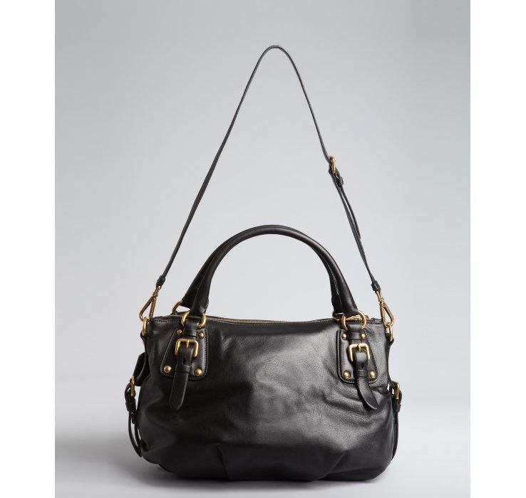 prada blue - prada lux double shoulder bag calfskin, prada tote bags price